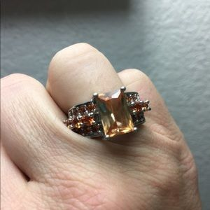 Jewelry - Size 8 morganite stones sterling